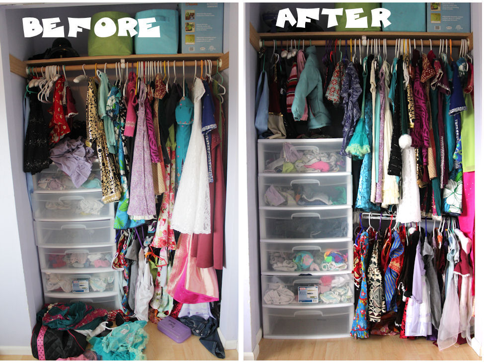I Put Up A Second, Lower Shelf And Closet Rod So The Younger One Could  Reach Her Own Clothes.