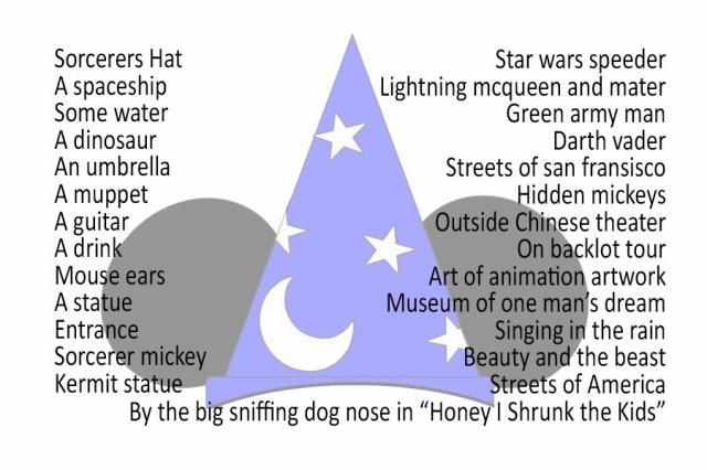 Disney's Hollywood Studios Photo Hunt List