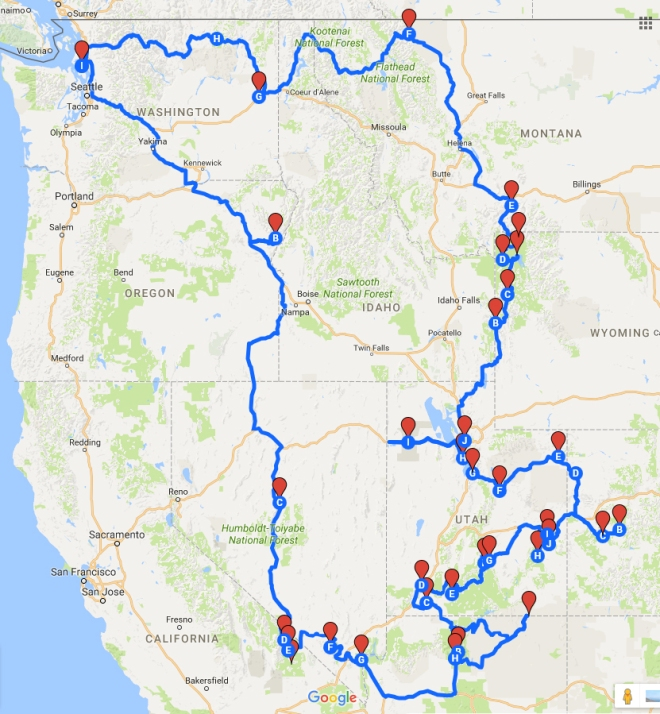 Trip Map | Desiree Dabbles